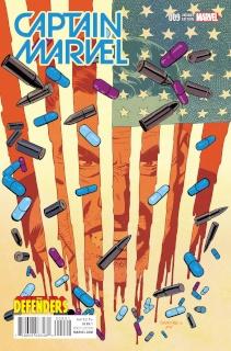 Captain Marvel #9 (Defenders Samnee Cover)