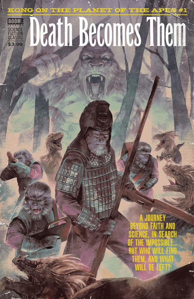 Kong on The Planet of the Apes #1 (Subscription Connecting Woody Cover)