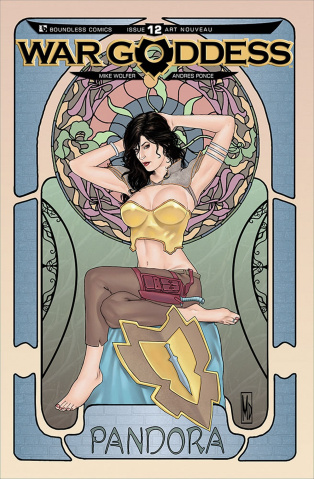 War Goddess #12 (Art Nouveau Cover)