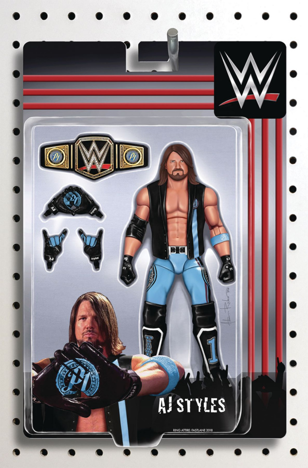 WWE #23 (Riches Action Figure Cover)