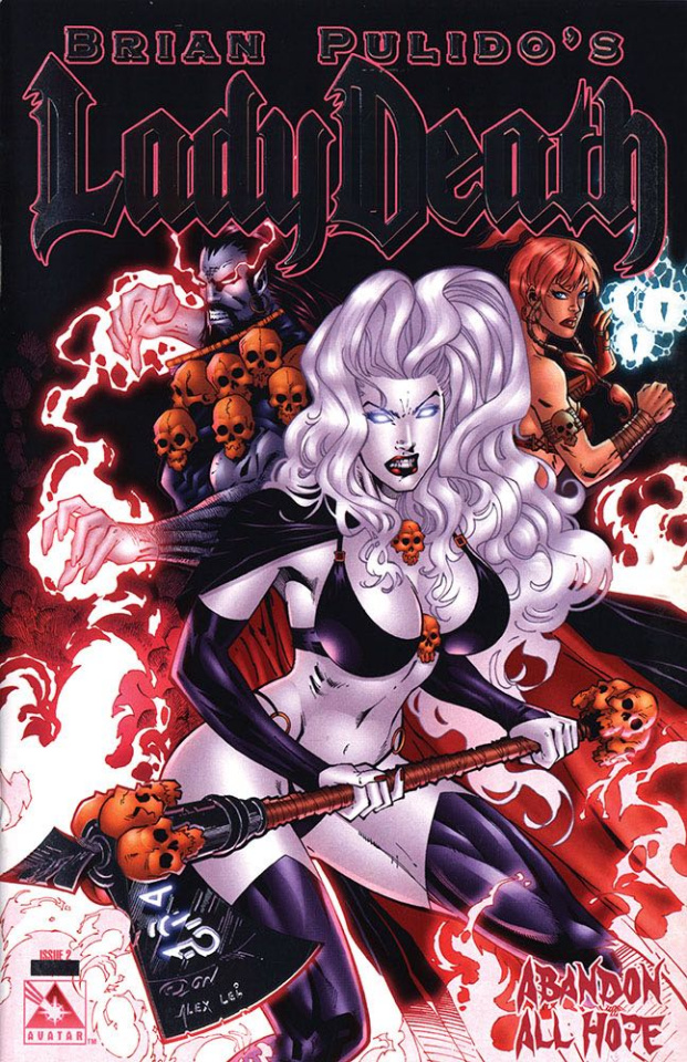 Lady Death: Abandon All Hope #2 (Platinum Foil Cover)