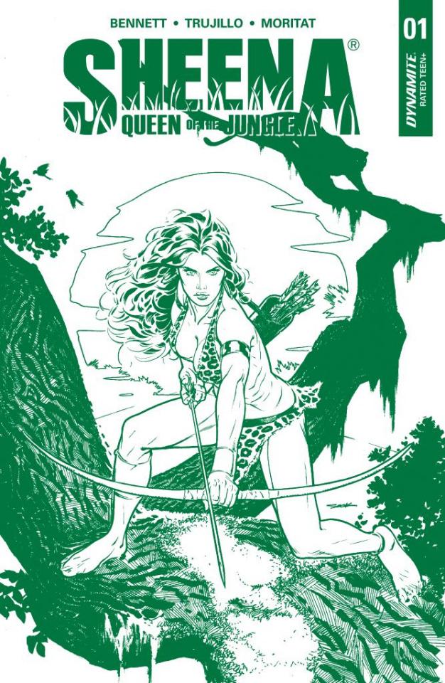 Sheena #1 (5 Copy Sook Jungle Green Cover)