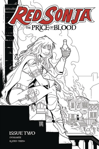 Red Sonja: The Price of Blood #2 (15 Copy Geovani B&W Cover)