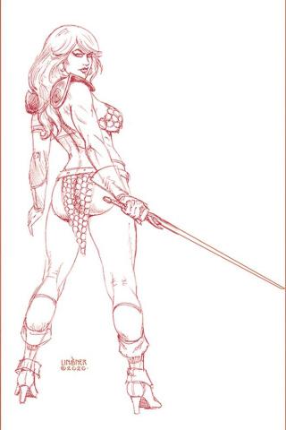 Red Sonja #17 (30 Copy Linsner Tint Virgin Cover)