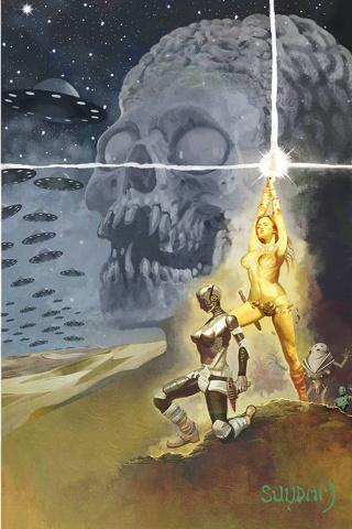 Mars Attacks / Red Sonja #3 (Suydam Virgin Cover)