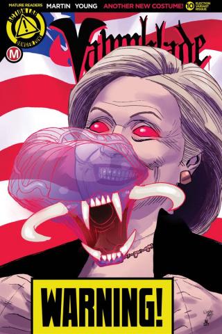 Vampblade #10 (Election Risque Cover)
