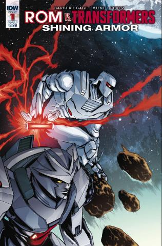 ROM vs. The Transformers: Shining Armor #1 (Villanelli Cover)