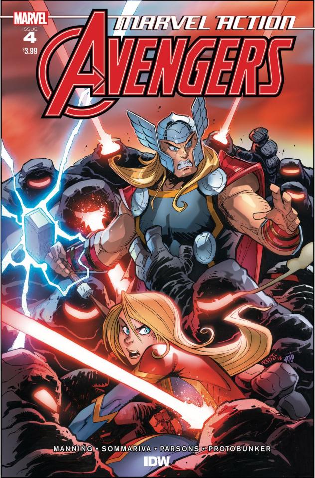 Marvel Action: Avengers #4 (Sommariva Cover)