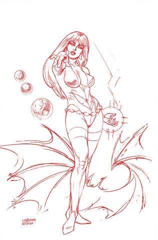 Vampirella: The Dark Powers #3 (Linsner Crimson Red Line Art Virgin Cover)