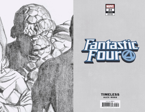 Fantastic Four #24 (Alex Ross Thing Timeless Virgin Sketch Cover)