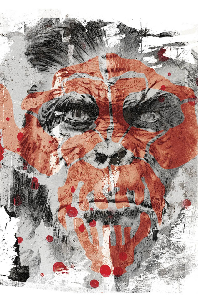 Dawn of the Planet of the Apes #5 (20 Copy Graffiti Cover)