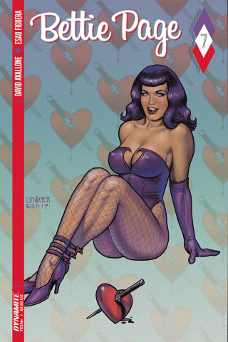 Bettie Page #7 (Linsner Cover)