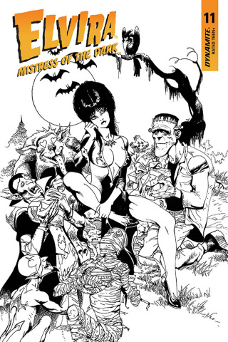 Elvira: Mistress of the Dark #11 (11 Copy Castro B&W Cover)