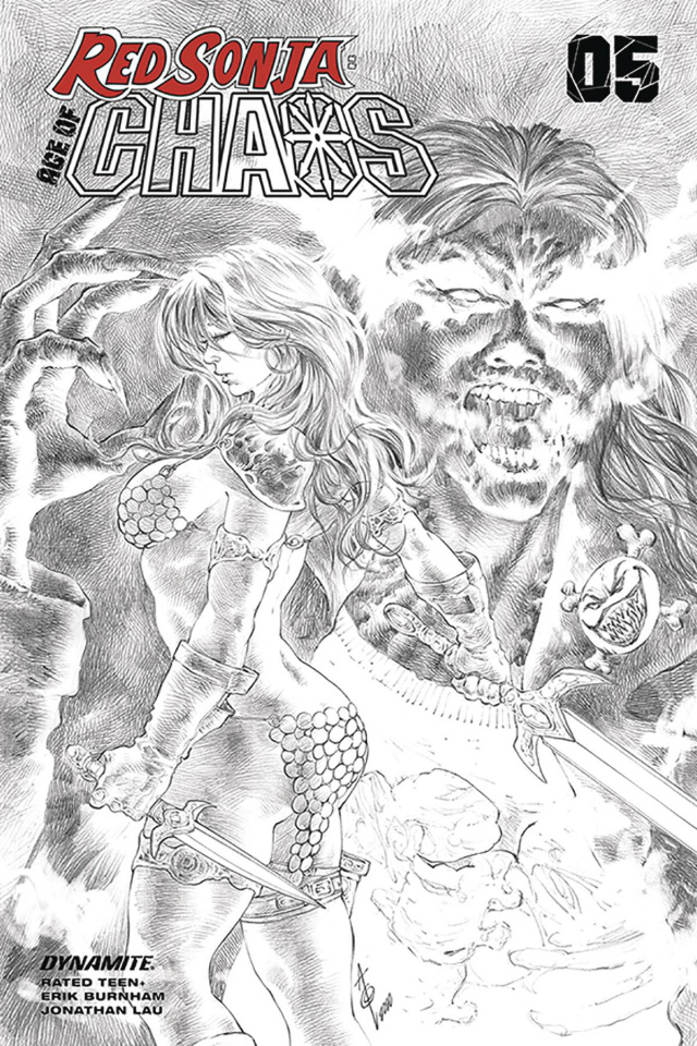 Red Sonja: Age of Chaos #5 (25 Copy Quah B&W Cover)