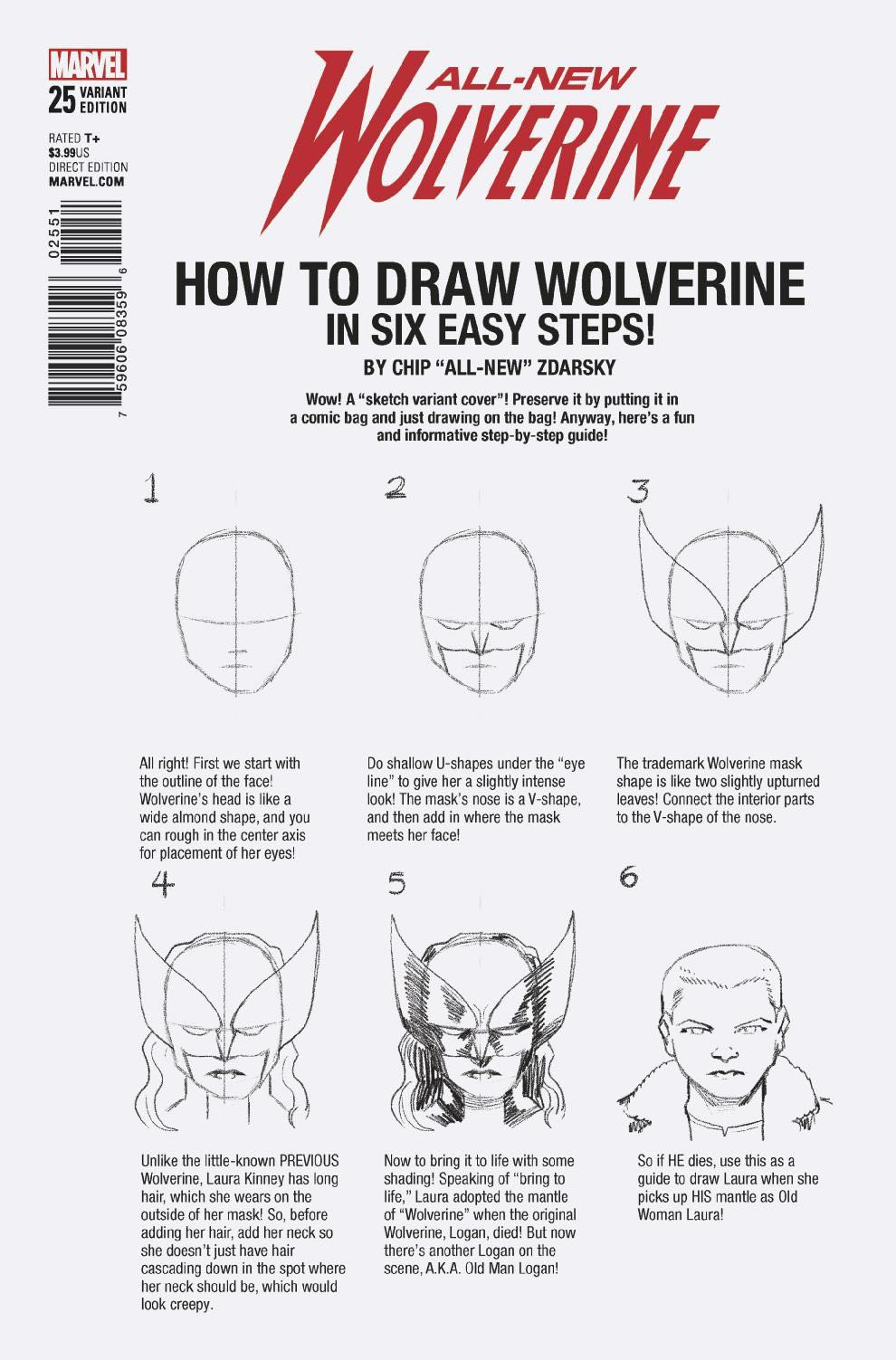 how to draw wolverine step by step with pencil