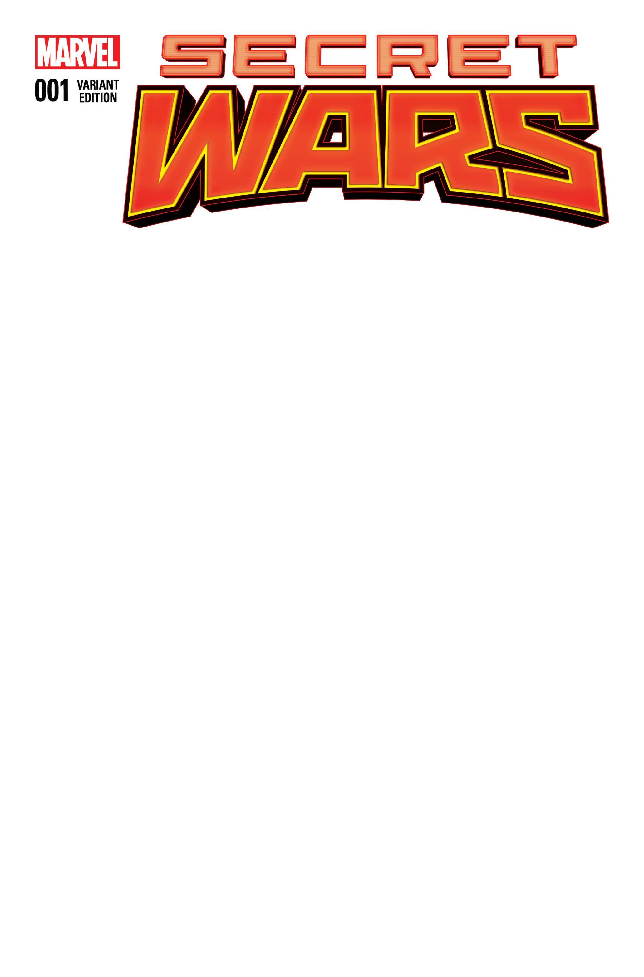 secret wars 1 blank variant fresh comics. Black Bedroom Furniture Sets. Home Design Ideas