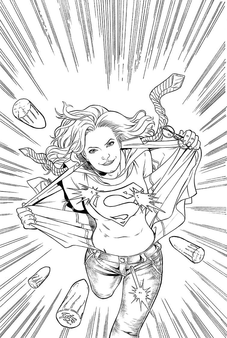 coloring dc  supergirl