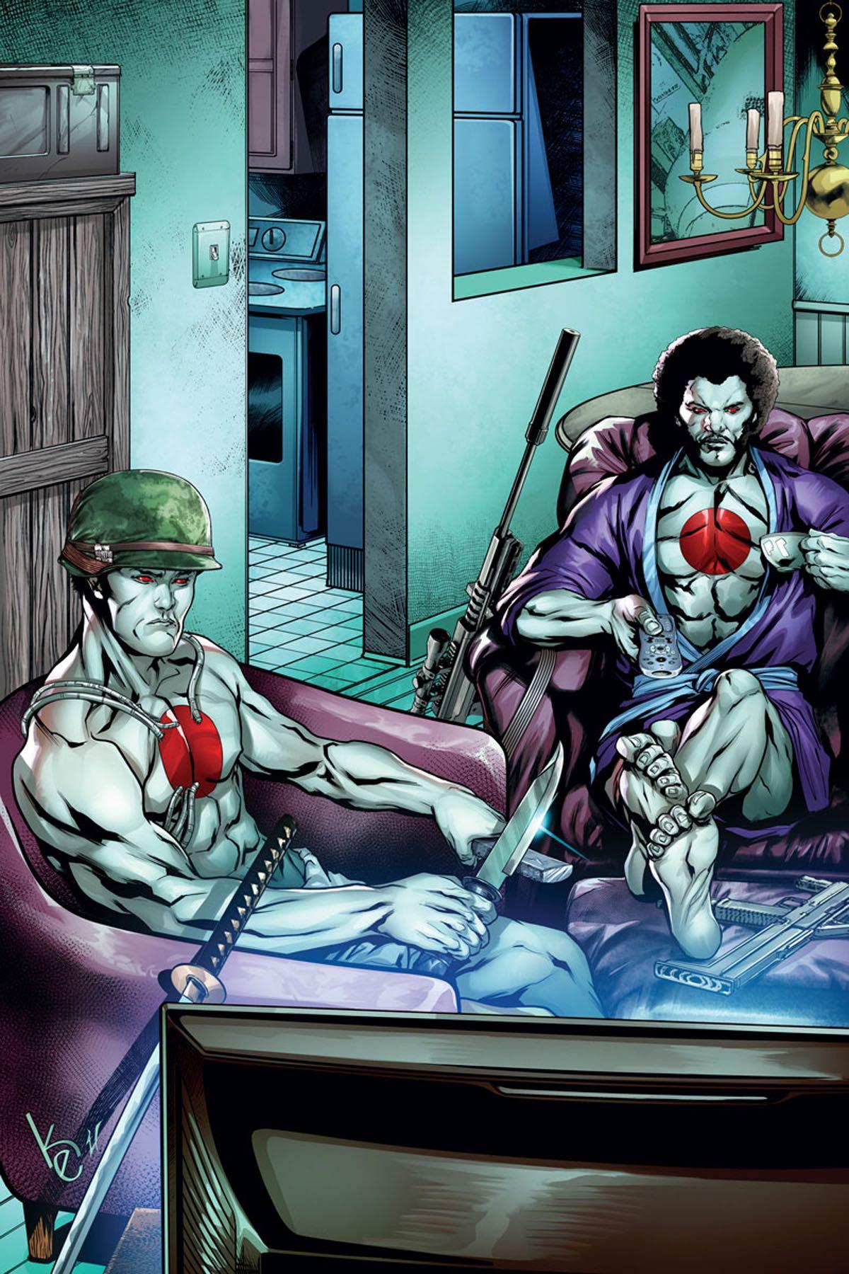 bloodshot 39 s day off 1 evans cover fresh comics. Black Bedroom Furniture Sets. Home Design Ideas
