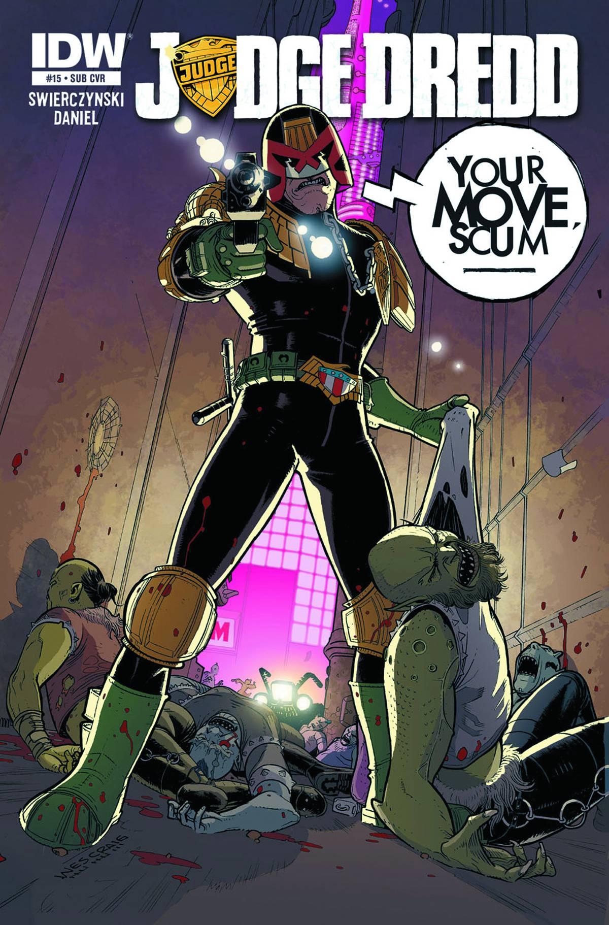 Judge Dredd 15 Subscription Cover Fresh Comics