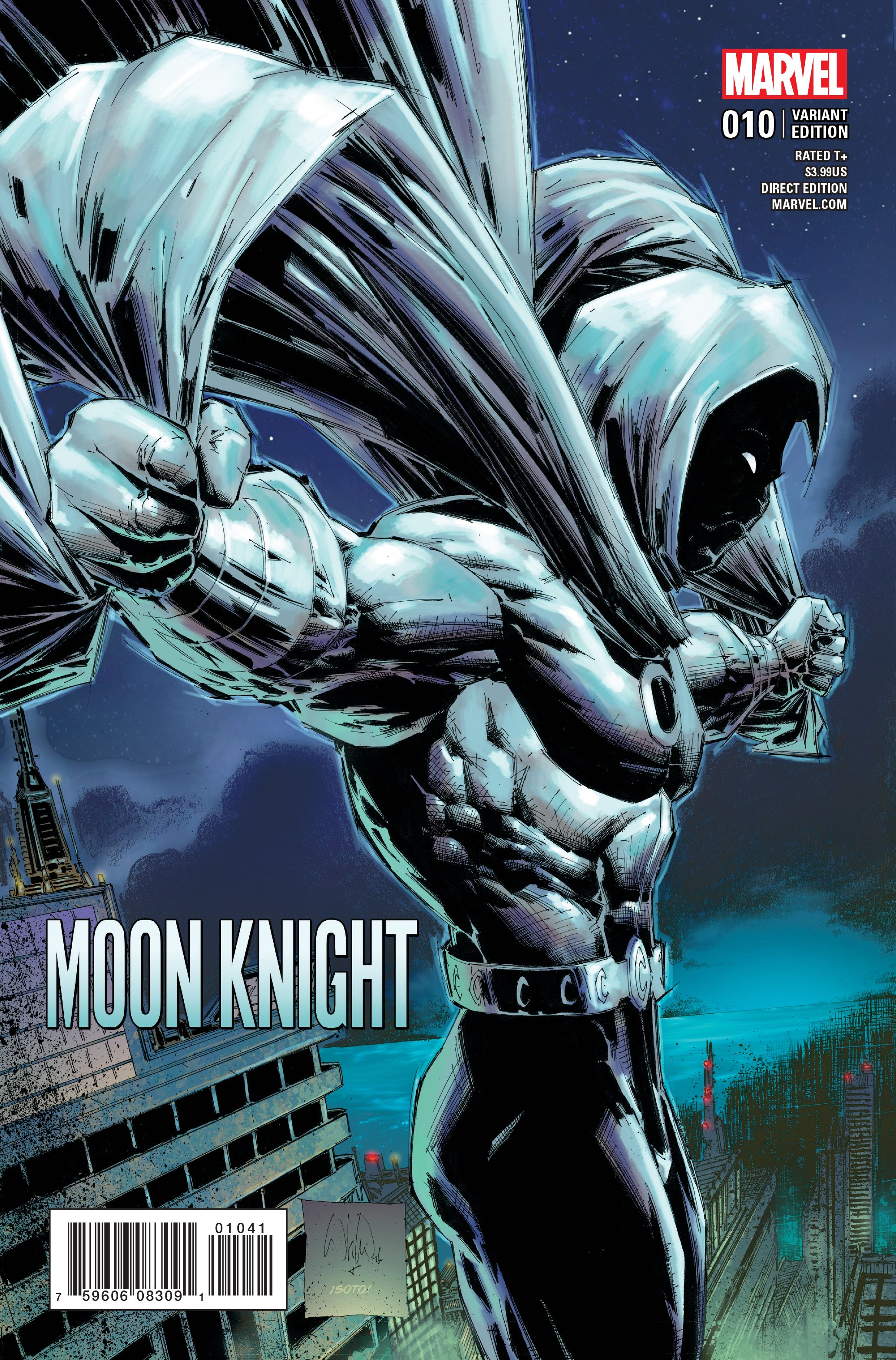 Moon Knight 10 Portacio Classic Cover Fresh Comics