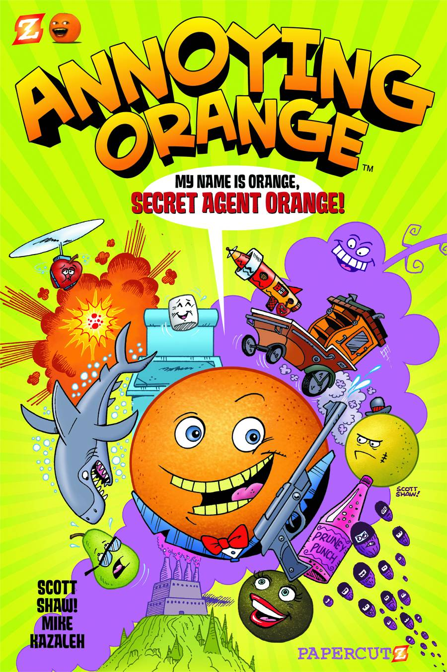 annoying orange vol 1 secret agent orange fresh comics. Black Bedroom Furniture Sets. Home Design Ideas