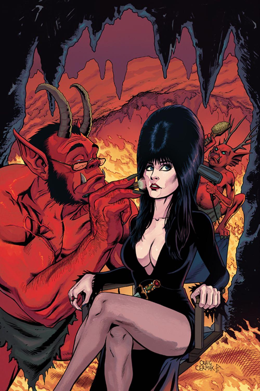 Elvira Mistress Of The Dark 5 10 Copy Cermak Virgin Cover